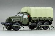 ЗИЛ-157К бортовой с тентом и лебедкой, хаки/песочный (1/43)