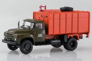 ЗИЛ-130 мусоровоз с боковой загрузкой КО-413, хаки/оранжевый (1/43)
