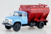 ЗИЛ-130 загрузчик сухих кормов ЗСК-10 поздний, голубой/коричневый (1/43)