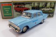 Москвич-408 Мед. помощь, голубой. Сделано в СССР (1/43)
