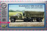 Автомобиль Studebaker US6 mod.U6. Тягач с полуприцепом (1/72)