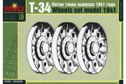 Катки для танка Т-34 выпуска 1941 г. (1/35)