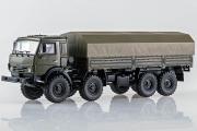 КАМАЗ-6350 'Мустанг' бортовой с тентом 8х8, хаки (1/43)
