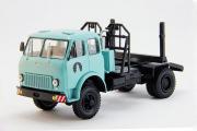 МАЗ-509П хлыстовоз 4х4 1965, бирюзовый/черный (1/43)