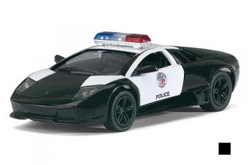 Lamborghini Murcielago LP640 Police, черный/белый (1/36)