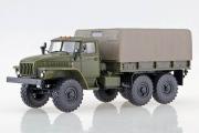 Урал-4320 бортовой с тентом, хаки (1/43)