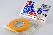 Маскирующая лента 6 мм в рулоне