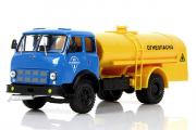 МАЗ-500А топливозаправщик ТЗ-500 'Огнеопасно', синий/желтый (1/43