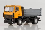 МАЗ-5550 самосвал 4х2, желтый/серый (1/43)