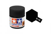 Краска X-18 черная акрил полуматовая (Semi Gloss Black) 10 мл.