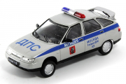 ВАЗ-2112 ДПС г.Москва, серебристый/синий (1/43)