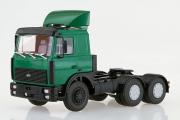 МАЗ-6422 седельный тягач со спойлером поздний 6х4, зеленый (1/43)