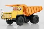 БЕЛАЗ-540А карьерный самосвал, желтый/оранжевый (1/43)