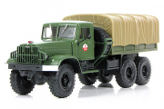КрАЗ-214В балластный тягач с тентом, хаки (1/43)
