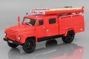 АЦ-30 (53) пожарная автоцистерна, красный (1/43)