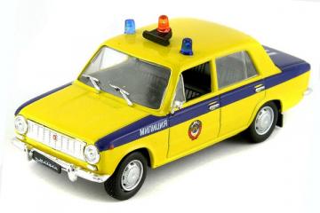 ВАЗ-2101 'Жигули' ГАИ СССР, желтый/синий (1/43)