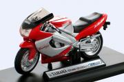Мотоцикл Yamaha YZF1000R Thunderace, вишневый/серебристый (1/18)