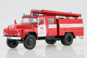 ЗИЛ-130 Пожарная автоцистерна, красный/белый (1/43)