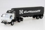 КАМАЗ-54112 тягач со спойлером с полуприцепом ОДАЗ-9370 с тентом 'Совтрансавто', серый/черный (1/43)