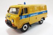УАЗ-3741 '02 Дежурная часть', желтый/синий пластик (1/43)