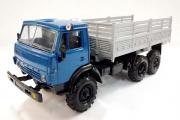 КАМАЗ-4310 бортовой без тента, синий/серый (1/43)