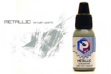 Краска M-15 алюминий светло-серый (Aluminum light grey) акрил для кисти 10 мл
