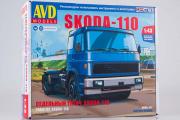 Сборная модель Skoda-110 седельный тягач (1/43)