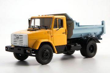 ЗИЛ-ММЗ-4508 самосвал, желтый/синий (1/43)