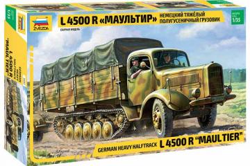 Автомобиль L 4500 R Maultier немецкий полугусеничный бортовой (1/35)
