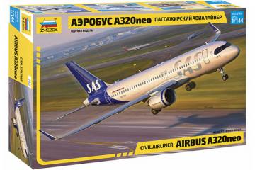 Самолет А-320 neo пассажирский авиалайнер (1/144)