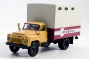Горький-53 ГЗСА-893А фургон 'Мебель', бежевый/серый (1/43)