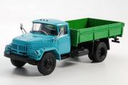 АМУР-53131 бортовой, голубой/зеленый (1/43)