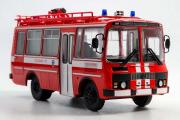 Автобус ПАЗ-3205 АГ-12 Пожарный, красный/белый. Спецвыпуск (1/43)