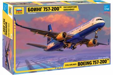 Самолет Боинг 757-200 пассажирский авиалайнер (1/144)