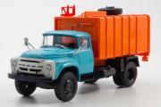ЗИЛ-130 КО-431 мусоровоз, голубой/оранжевый (1/43)