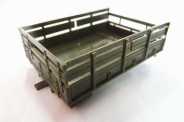 Платформа грузовая ЗИЛ-131 с фонарями, хаки (1/43)