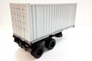 Полуприцеп контейнеровоз, серый (1/43)