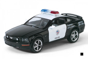 Ford Mustang GT Police 2006, черный/белый (1/38)