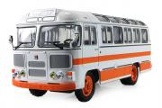 Автобус ПАЗ-672М городской, белый/оранжевый (1/43)