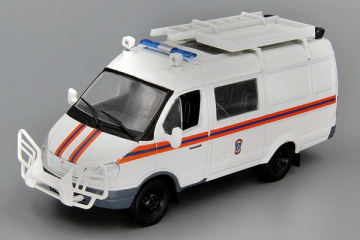 Горький-2705 'Газель' АСМ МЧС, белый (1/43)