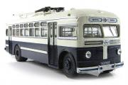 Троллейбус МТБ-82Д 1951, белый/темно-синий (1/43)