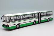 Автобус Икарус-280.64 гармошка, белый/зеленый (1/43)