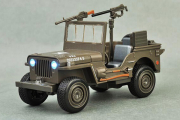 Willys Jeep (свет, звук), хаки (1/24)