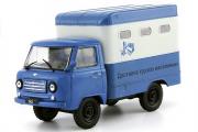УАЗ-451Д фургон 'Доставка грузов населению', синий/серый (1/43)