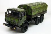 КАМАЗ-4310 бортовой с тентом, камуфляж фабричный (1/43)