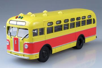 Автобус ЗИС-155 городской, желтый/красный (1/43)