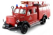 Magirus-Deutz 150D пожарный 1964, красный (1/43)