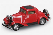 Ford 3-Windows Coupe 1932, красный (1/43)