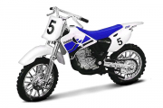 Мотоцикл Yamaha YZ400F №5 (Collection), белый/синий (1/18)
