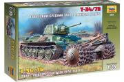 Танк Т-34-76 с минным тралом (1/35)